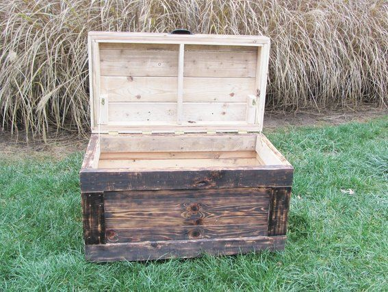 Storage Box Out Of Pallets Wood Chest Made From