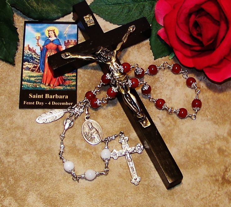 Unbreakable Traditional Chaplet of St. Barbara - Patron Saint of  Firefighters, Architects, Masons and Protection From Hurricanes & Storms by foodforthesoul on Etsy