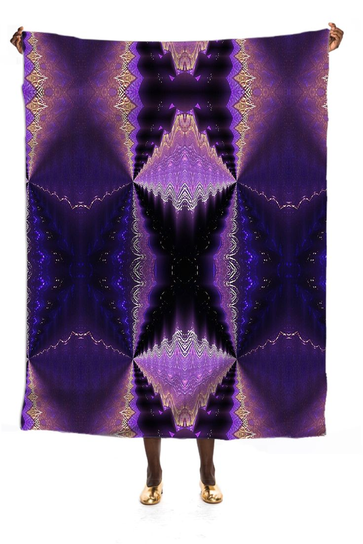 Silk skarfe with fractal butterfly pattern from Print All Over Me