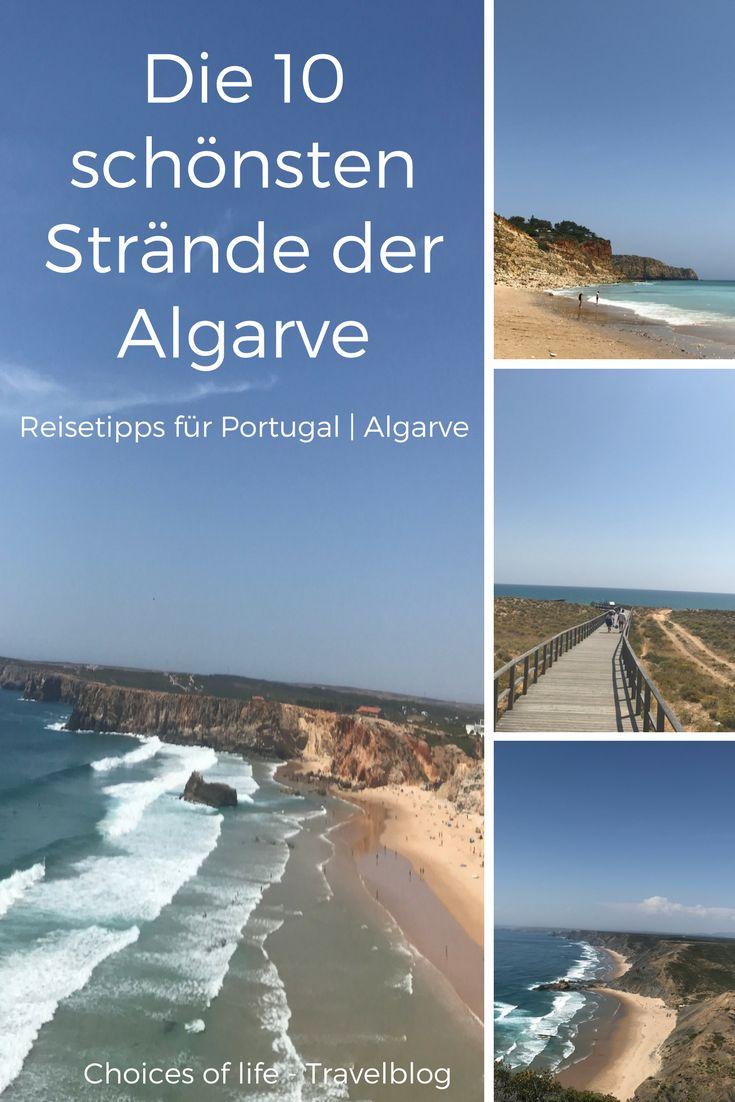 Die Algarve bietet Surferstrände, wunderschöne flach abfallende Strände und rauhe, beeindruckende Felsküsten. Die 10 schönsten Strände der Algarve stelle ich euch vor, alles markiert in einer Portugal-Karte. | Portugal Strände | Algarve Strände | Algarve Surfen | Algarve Beach | Portugal Beach