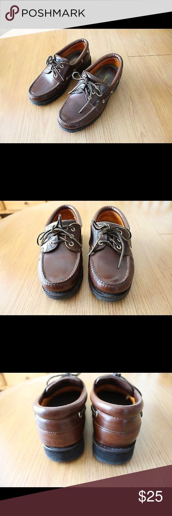 TIMBERLAND Boat Deck shoes size 8M Pre-Owned Timberland Brown Leather Casual Comfort Boat Deck Shoes Nautical Footwear Size 8 M, Style # 836026. Shoes are in great condition, see photos. Timberland Shoes Boat Shoes