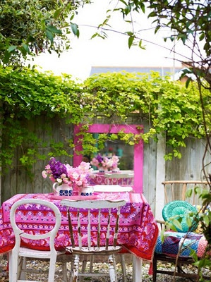 Homespun Style, Outside Living Image from my latest book with photography By Debi Treloar