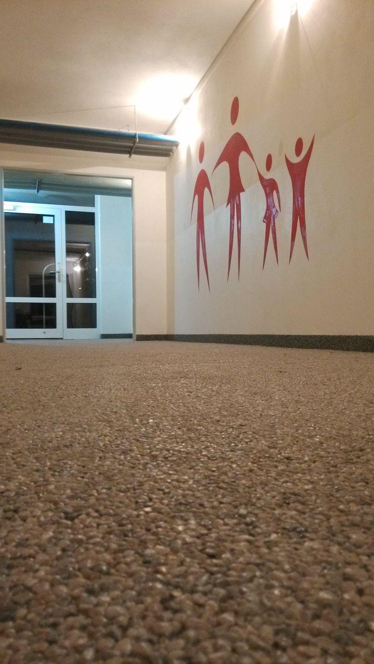 kamínkový koberec v panelovém domě