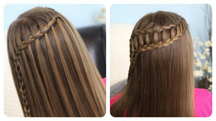 Feather Waterfall Braid and Ladder