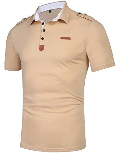 Daupanzees Men s Casual Classic Solid Short Sleeve Jersey Polo Shirt   men shirt  shirt  polo shirt eab59b8b71ff4
