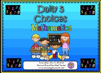 This flipchart will help you keep track of your student's Daily 5 math choices. (Strategy Games, Fact Games, Paper Practice, Math Tools and Number ...