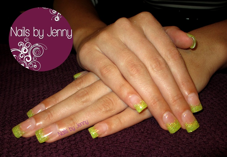 Full Set Gel Nails with Glitter Tips  --  Nails by Jenny in St. George, Utah