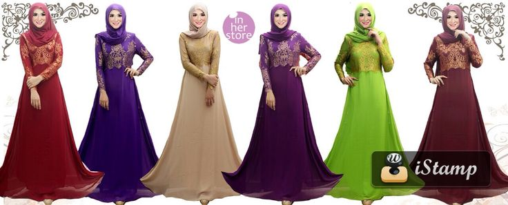 Gamis/Jubah by In Her Store Indonesia - Arsy Series Material : Chiffon Cerutti & Panel Lace Size : S – M – L – XL Retail Price : Rp 400 rb/pc (Include Tudung) Reseler Price : Rp 370rb/pc (min.3pcs, mix size & colours allowed) PIN : 75BD8849 Line : go2dika
