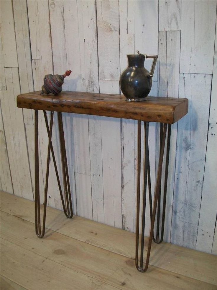 Foyer Table Hairpin Legs : British made vintage style industrial hairpin leg hall