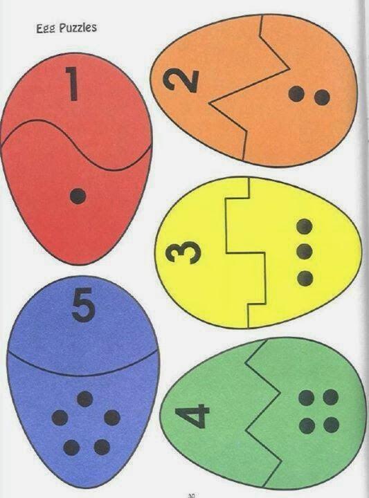 Цифра и количество фигур, соответствующее.