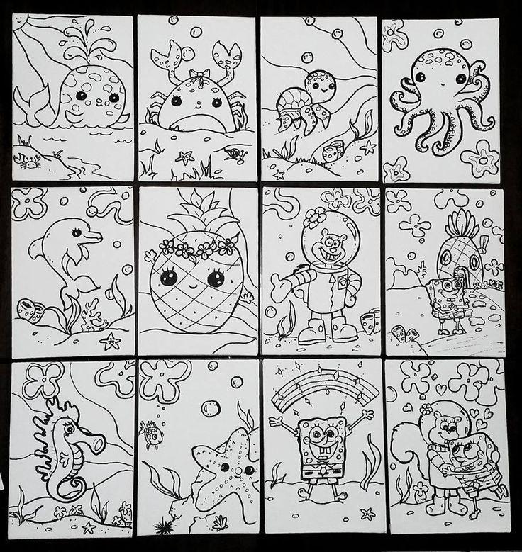 Spongebob paint party Ocean  art party favor