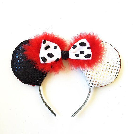 Cruella Ears Cruella De Vil Disney Inspired by ToNeverNeverland