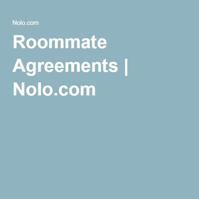 The  Best Roommate Agreement Ideas On   Roomate