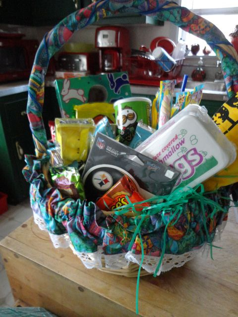 20 best holiday gifts images on pinterest easter party easter boyfriend easter basket filled with lots of his favorite snacksingles marshmallow eggs negle Choice Image