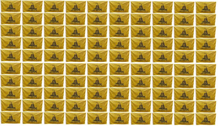 Wholesale Don't Tread On Me Gadsden Flags 3x5 Feet - Bulk Polyester Tea Party RattleSnake Banners with Grommets 3x5 Double Stitched (100 Pack)