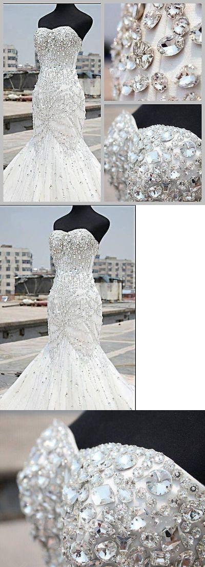 Wedding Dresses: New White/Ivory Mermaid Bridal Gown Wedding Dress Custom Size 6 8 10 12 14 16 18 -> BUY IT NOW ONLY: $71 on eBay!