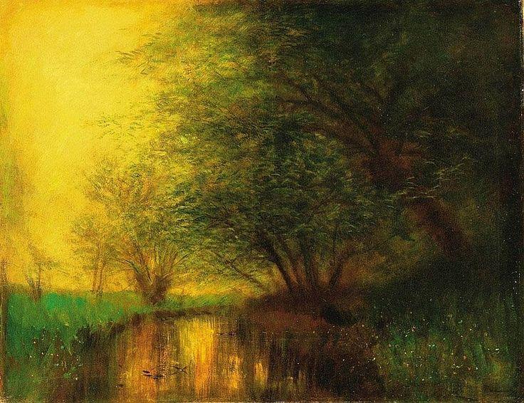 Mednyánszky László: 1852 - 1919: By the riverside: 96,5×125 cm: oil on canvas: signed lower right: Mednyánszky: