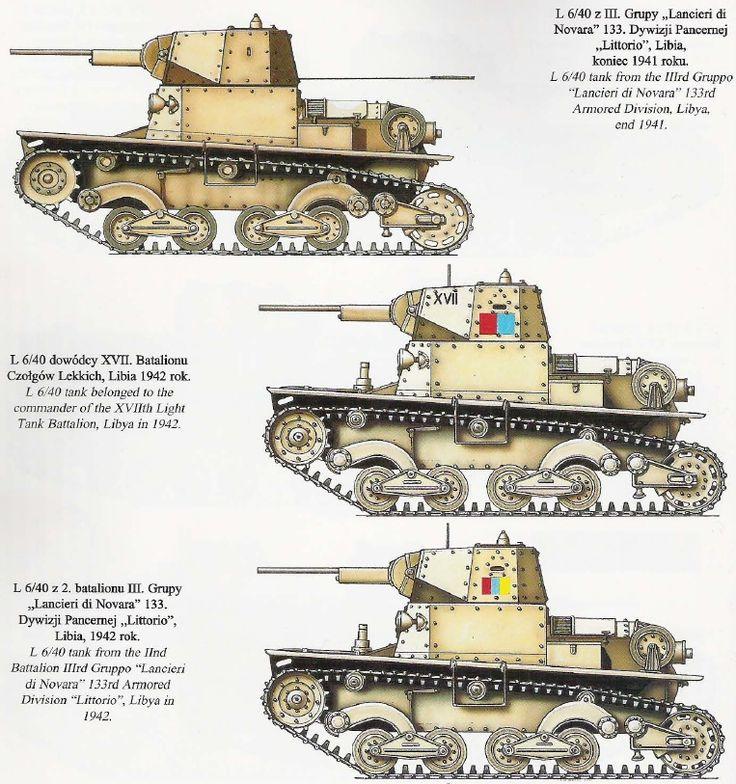 Italian L6/40's in North Africa