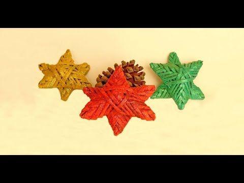 decoracion facil rapido economico reutilizando papel para navidad estrella navideña de belem paso a - YouTube
