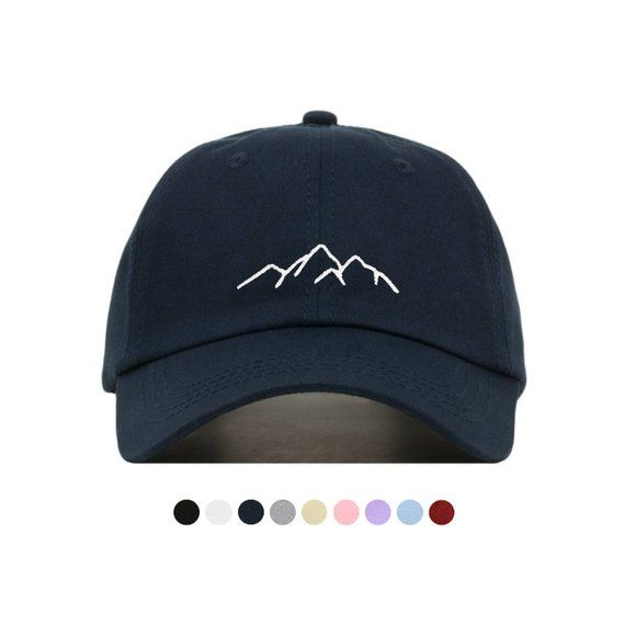 65bdd7b545942 MOUNTAIN Baseball Hat, Embroidered Dad Cap • Hiking Climbing Adventure •  Unstructured Six Panel • Ad in 2019 | Products | Baseball hats, Hats, Dad  caps