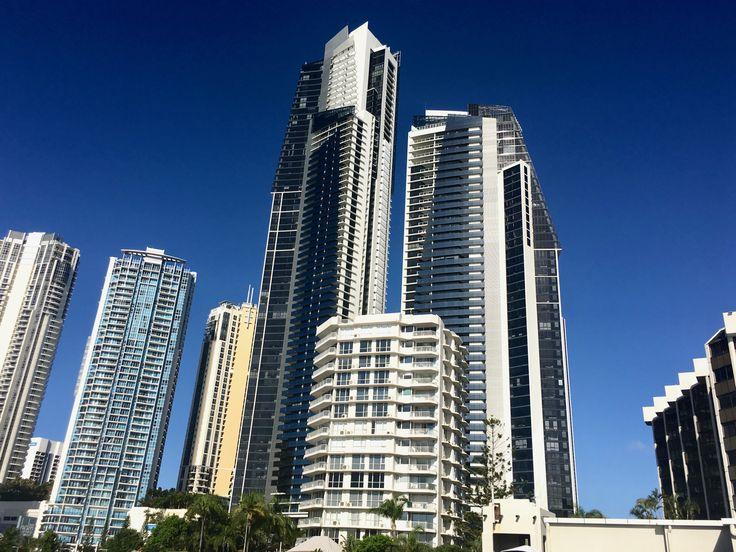 Gold Coast Australia CBD, including Australia's tallest building the Q1 Tower.