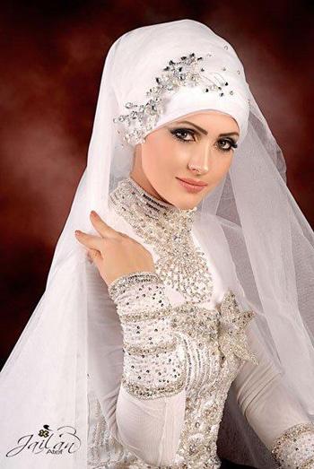 Wedding veil hijab by jailan atef