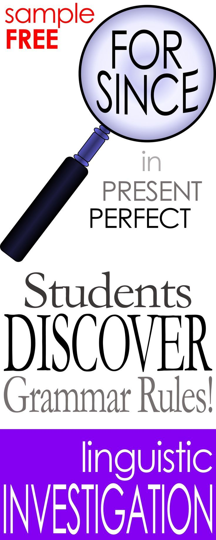"""Students discover rules for when to use """"for"""" vs. """"since"""" in present perfect sentences.  Great for Adult ESL!"""