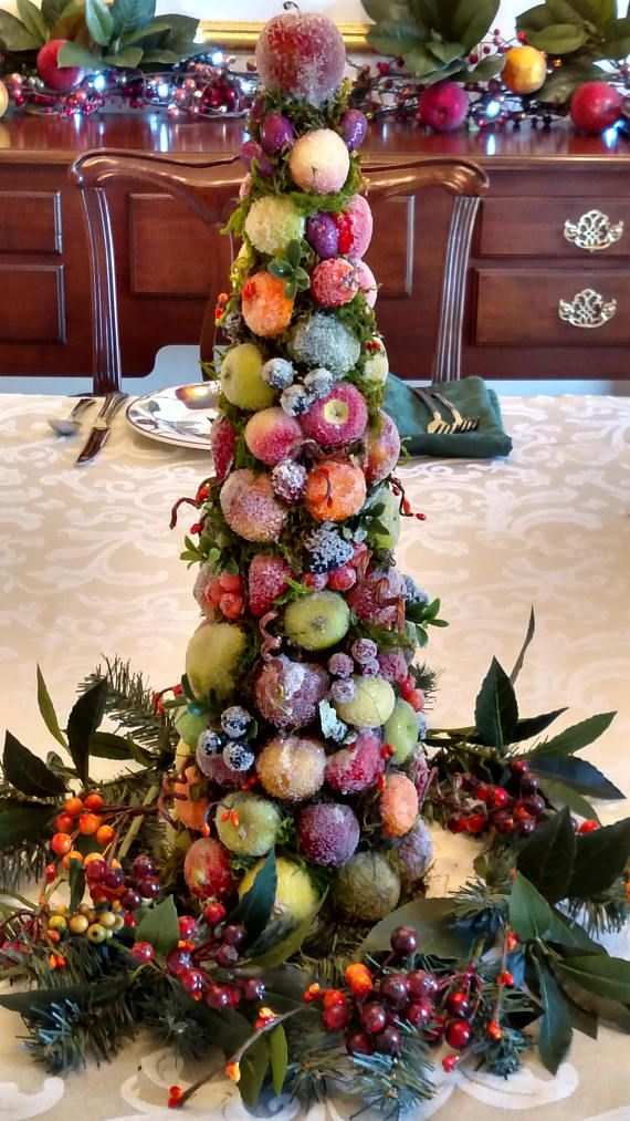 Williamsburg Christmas Sugared Fruit Topiary Dining Table Centerpiece Oxford Decorations Pinterest Centerpieces And