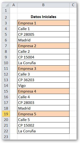 La Rebotica de Excel: Transponer con la Función DESREF