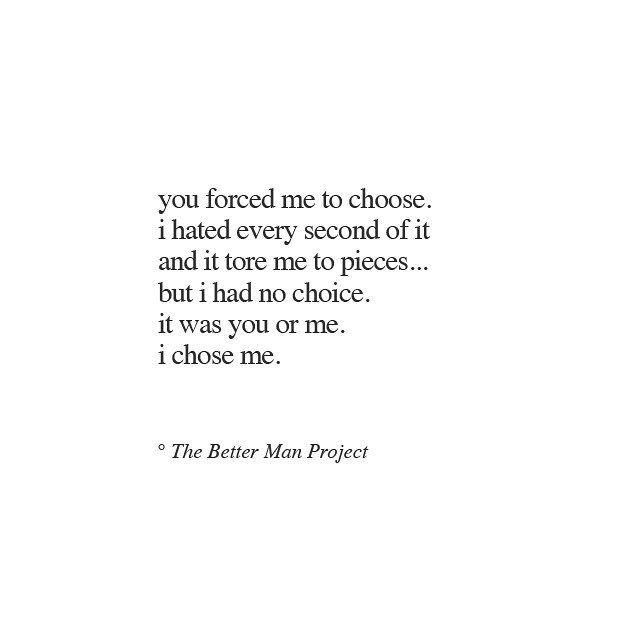 i chose me