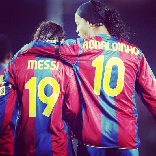 Messi, Ronaldinho