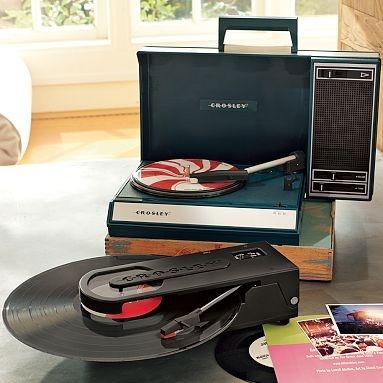 I love the Crosley Portable USB Turntables on pbteen.com