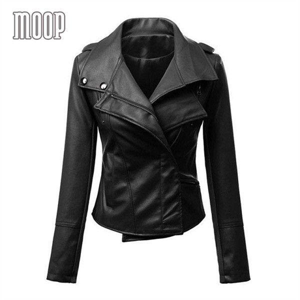 Black/yellow PU leather jackets coats women motorcycle jacket veste en cuir femme cazadora cuero mujer blouson Free ship LT094