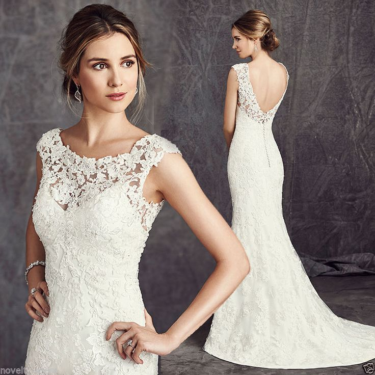 New Mermaid Ivory/White Bridal Gown Wedding Dress Custom 4 6 8 10 12 14 16 18+++