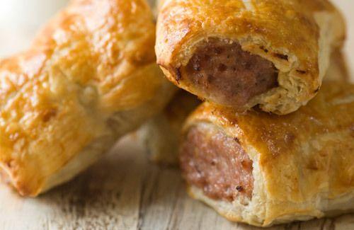 Homemade Sausage Rolls! #yum http://www.yummly.co.uk/recipe/Sausage-Rolls-469225
