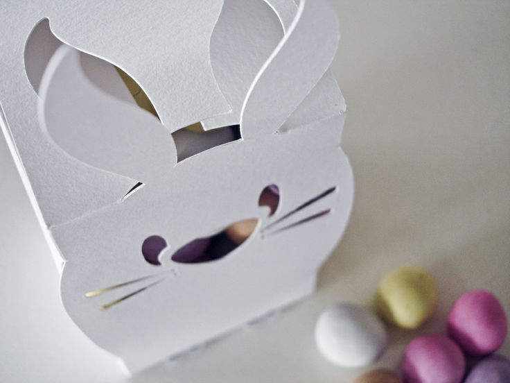 Easter Bunny Gift Boxes – 2 Pack – White
