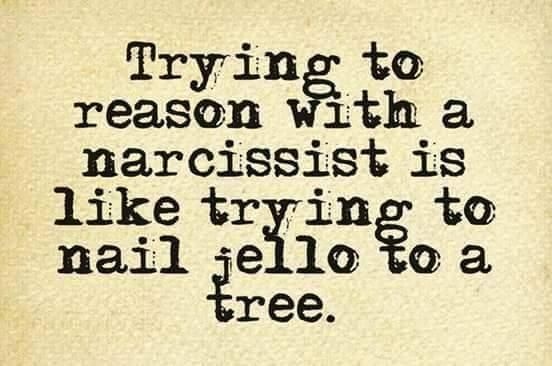 You can't reason with a narcissist or get them to take responsibility for anything. You will end up defending yourself when he turns the conversation around on you.
