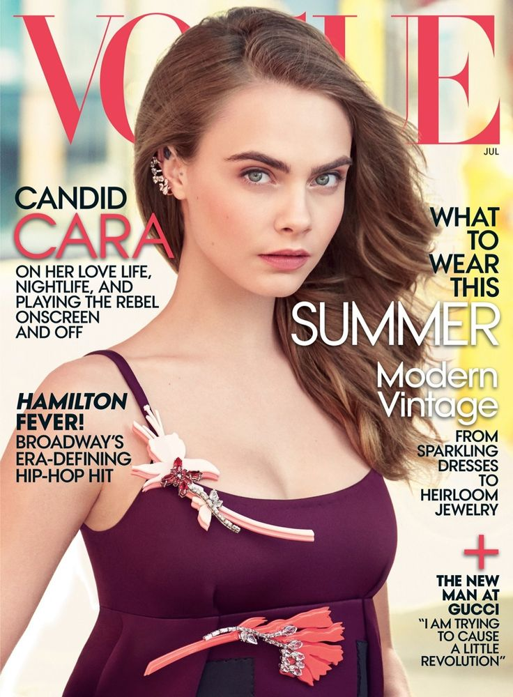 Cara Delevingne Covers Vogue US July 2015 - http://www.becauseiamfabulous.com/2015/06/cara-delevingne-covers-vogue-us-july-2015/
