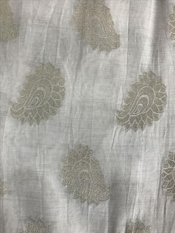 Mango shaped butta fabric.