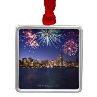 Chicago Christmas Ornament Fireworks