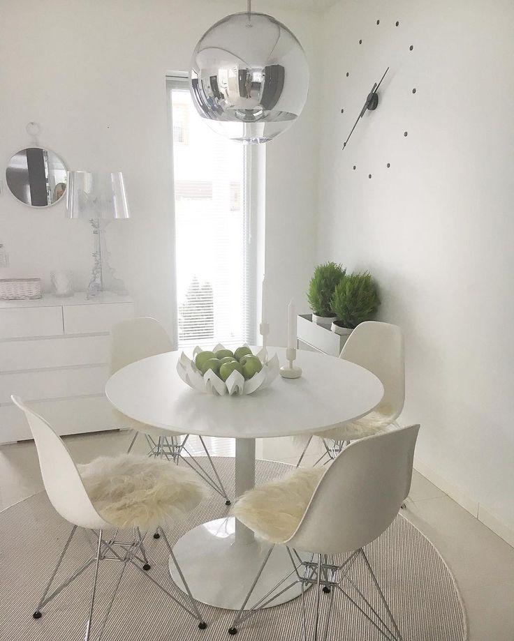 White dining room -  Petals white / Photo by @ripustetturakkaudella