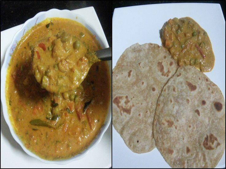 Vegetable Kurma | How to prepare Vegetable Kurma in restaurant style |Vegetable Kurma recipe with step by step photos |Hotel Vegetable Kurma