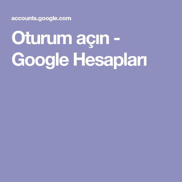 Oturum açın - Google Hesapları