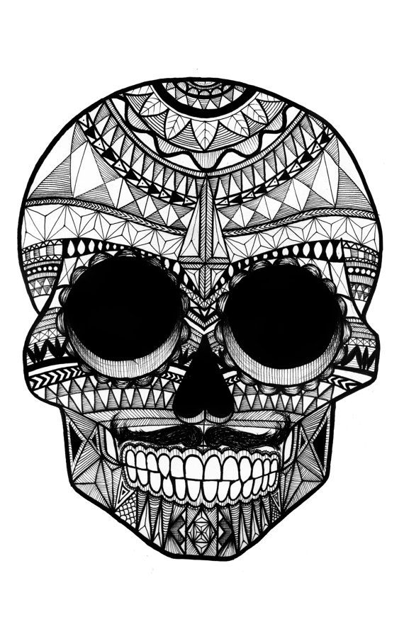 Line Drawing Skull : Best images about day of dead n sugar skulls on