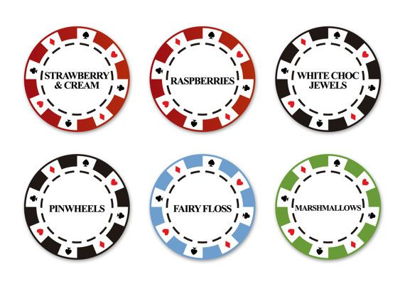 Poker party candy label to decor the candy or favor tables in casino themed events, man birthday party or retirement celebration.  This item includes 8 printable poker chips candy labels with the texts you want: marshmallow, cupcakes... Indicate all the differetn texts in purchase comments. Additional card has an extra cost.  You will receive a printable product, no physical items will ever be shipped. It can be printed at home or at the print shop. This is a custom product. Please let me…