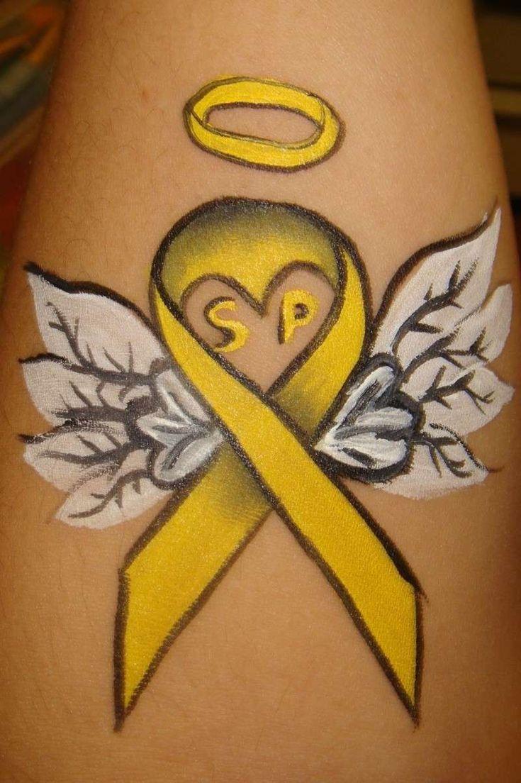 best 20 yellow ribbon tattoos ideas on pinterest. Black Bedroom Furniture Sets. Home Design Ideas