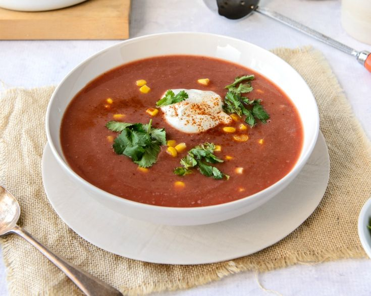 In just 20 minutes you can have this Mexican style soup on the table. It contains kidney beans, which can really help you balance blood sugar levels.