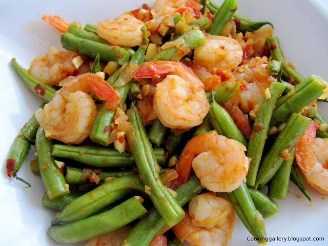 Cooking Gallery: Spicy Green Beans with Shrimps