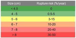 Abdominal aortic aneurysm & risk of rupture.