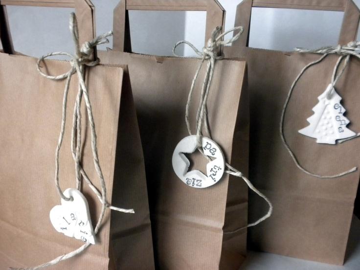 Bicarbonato mais #clay #tag #christmas